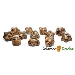 Chumpi khuyas Alabaster Shaman 12 STONES SET(mastana, florida water, rattle, etc) ANDEAN REIKI