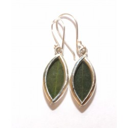 Coca leaves earrings from Peru (950 silver) OTHER PERUVIAN HANDICRAFTS
