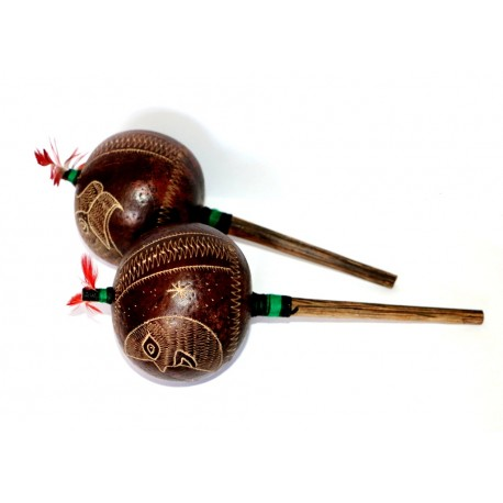 Amazon Shaman Rattles x 2 OTHER PERUVIAN HANDICRAFTS