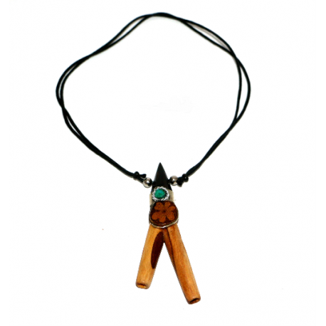 Amazon shamanic snuff kuripé for rapé of Palo santo wood PALO SANTO ART