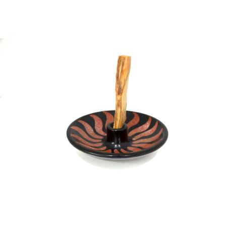 Premium Palo Santo Bursera Graveolens Incienso de Peru 10 cm x 1 cm y quemador de ceramica INCIENSOS NATURALES